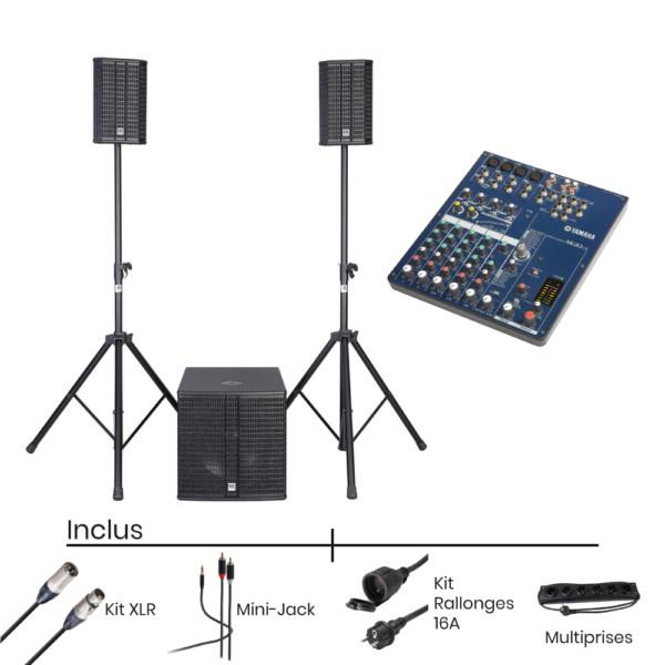 Pack Location Systeme Son HK AUDIO Lucas 2K15 + Console de Mixage
