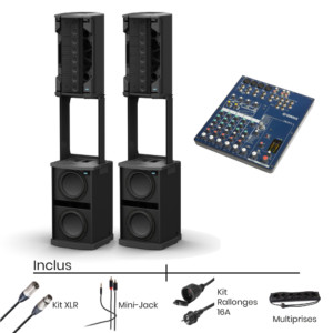 Pack location BOSE F1 812 + Console de Mixage